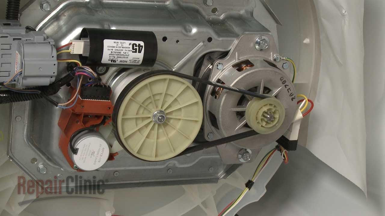 small resolution of whirlpool top load washer won u0027t spin drive belt w10006384 youtube wiring diagram