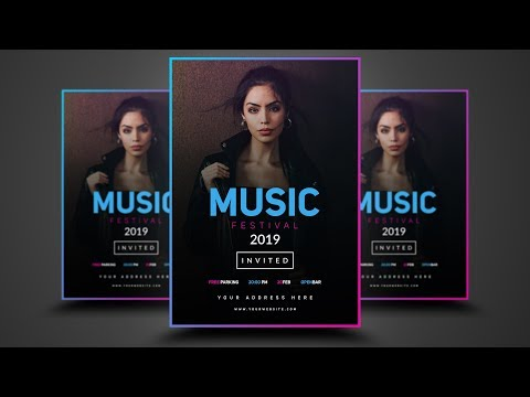 Photoshop Tutorial - Professional Flyer Design (Music Events)
