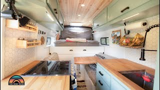 DIY Extended High Roof Camper Van W/ Shower, Toilet & Space Saving Bed Design