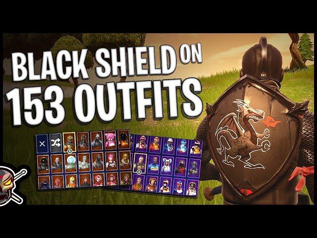 Black Shield Back Bling On 153 Outfits Black Knight Fortnite