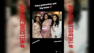 Lil Wayne ex Toya SHOWS OFF NEW Baby daddy at Babyshower for Reign