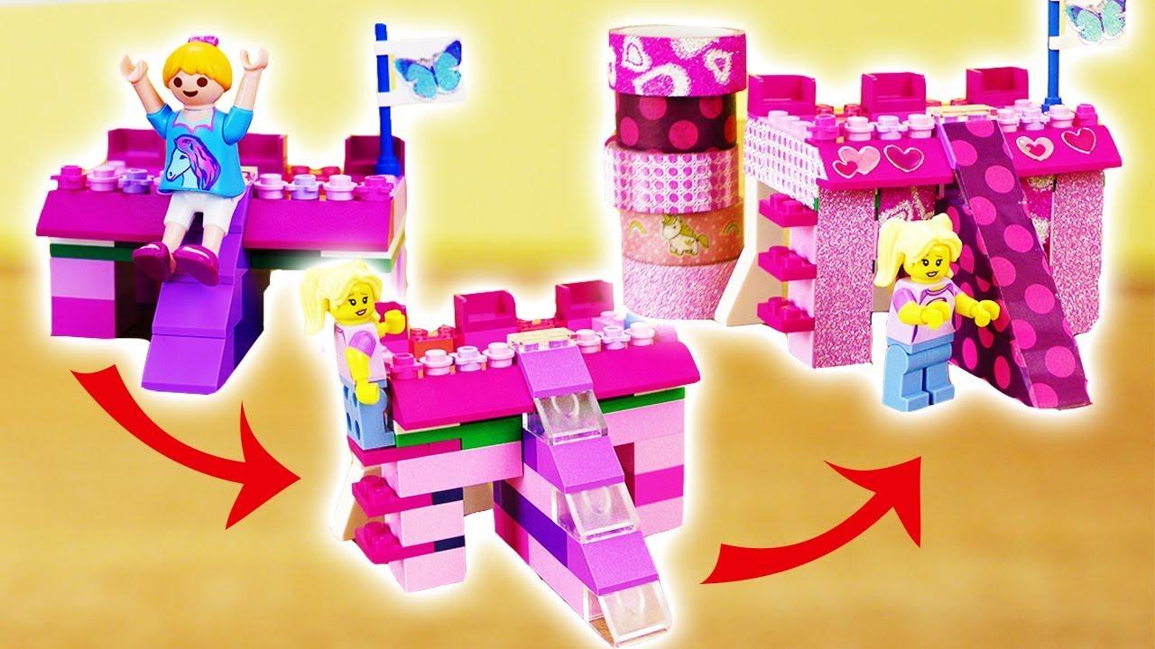 lego bett selber bauen komplett spielzeug bett f r playmobil oder lego figur selber machen. Black Bedroom Furniture Sets. Home Design Ideas
