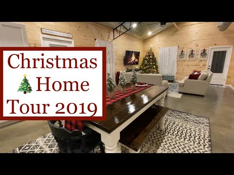 Christmas Home Tour 🎄 2019   First Christmas In Our New Pole Barn House   Farmhouse Decor