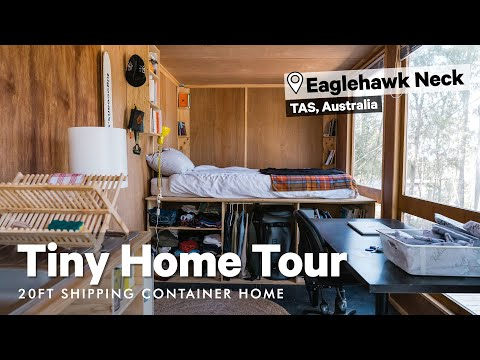Shipping Container Home Tour! Go inside Nick Jaffe's 20ft Tiny Home in Eaglehawk Neck, Tasmania