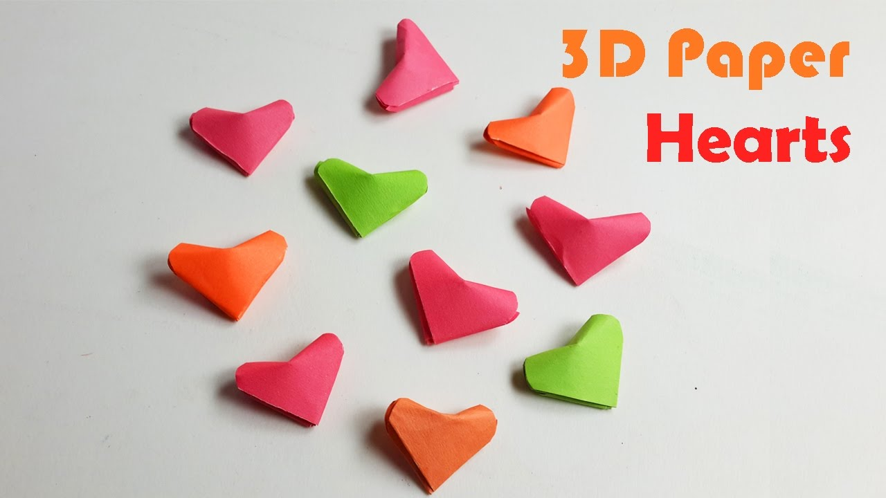 How To Make An Origami 3D Heart