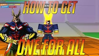 MHA Plus Ultra | Where And How To Get One For All!! | MHA Plus Ultra ROBLOX