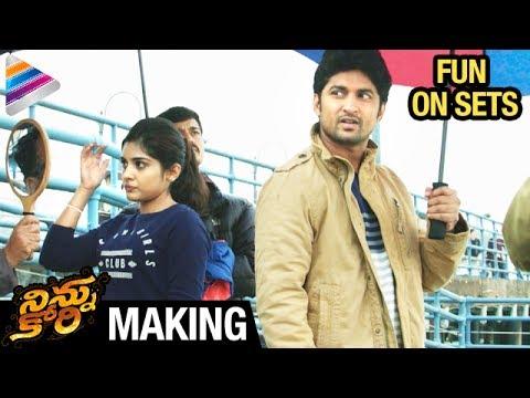 Ninnu Kori MAKING | #NinnuKori FUN ON SETS | Nani | Nivetha Thomas | Aadhi | Telugu Filmnagar