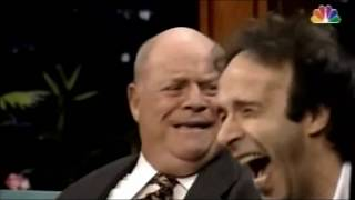 Don Rickles on Jay Leno w/ Roberto Benigni embracing absolute craziness 1996