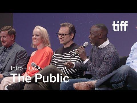 THE PUBLIC Cast And Crew Q&A   TIFF 2018