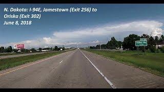 A drive in North Dakota on June 8, 2018, along Interstate 94 East f...