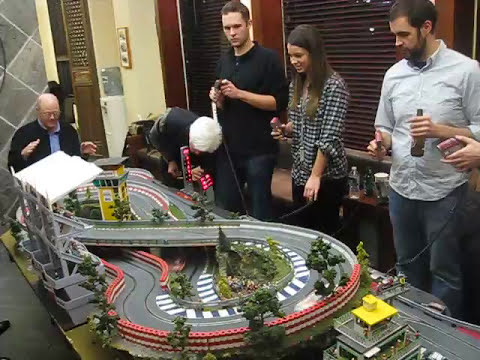 SCX Nascar Digital Slot Car Race at Pomann Sound Studios NYC