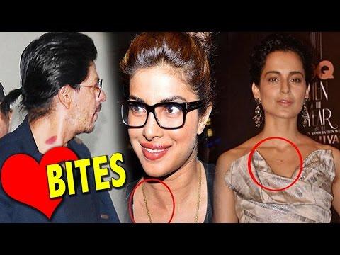 Bollywood Celebrities Caught With Love Bites  | Shahrukh, Kareena , Priyanka