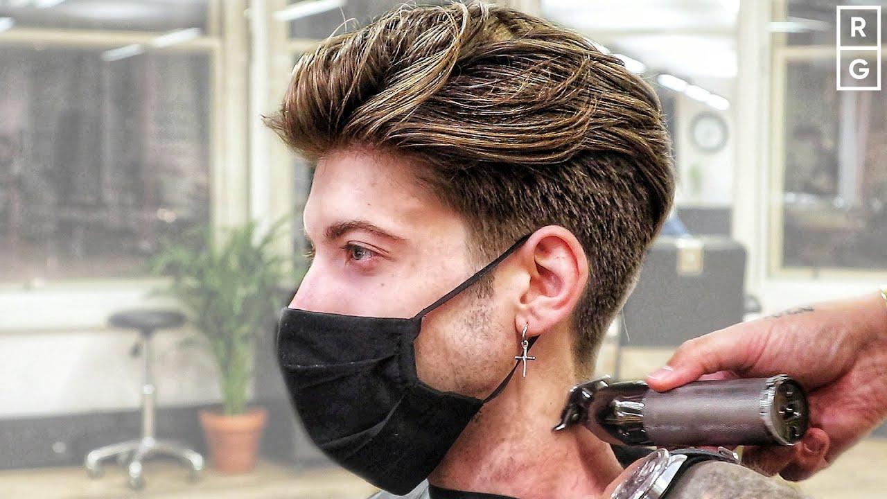 90s Style Undercut Haircut (Leonardo DiCaprio Inspired)