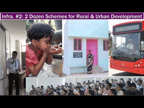 Infra#2: Two Dozen Schemes for Rural & Urban Development in India