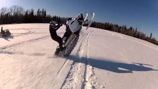 long catwalk on snowmobile