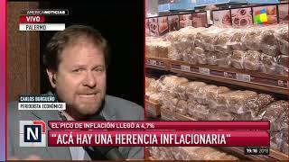 Pico De Inflación 4,7%; La Interanual 54,7%