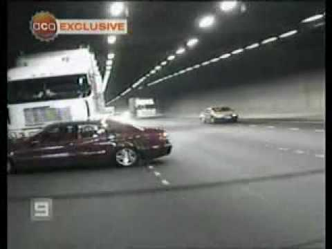 Melbourne Domain Tunnel truck and car crash