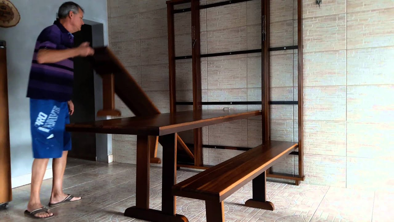 Mesa Em Parede ~ Mesa articulada na parede YouTube