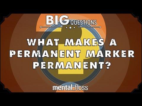 What makes a permanent marker permanent? - Big Questions - (Ep. 28)