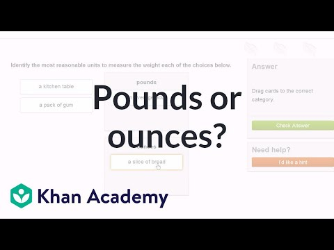 Choose Pounds Or Ounces To Measure Weight