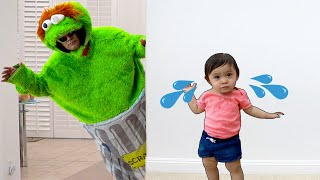 Baby Maddie Pretend Play Learn To Wash Your Hands Before Eating Story | Funny Kids Video