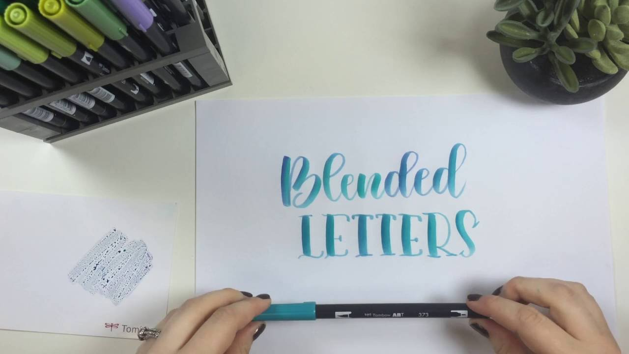 How to create blended lettering using tombow dual brush pens youtube