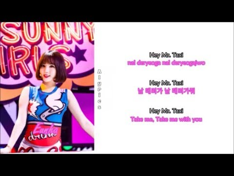 Sunny Girls - TAXI (Rom-Han-Eng Lyrics) Color & Picture Coded