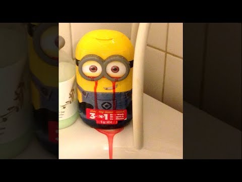 my minion toy started bleeding.. (HELP)