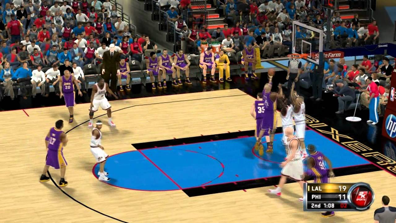 NBA 2k12 - 00-01 Lakers Vs. 00-01 Sixers - 2001 NBA Finals Rematch - YouTube