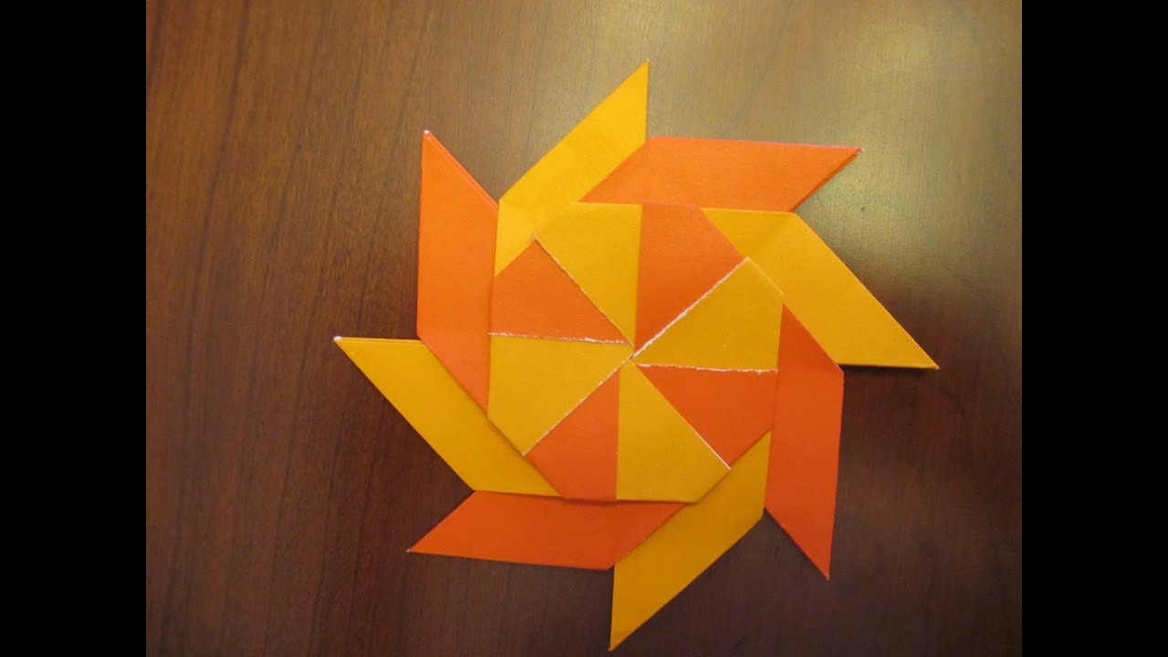 How to make an Origami Transforming Ninja Star - YouTube - photo#46