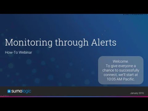 """How To"" Webinar- Monitoring you Data: Alerting on Outliers"