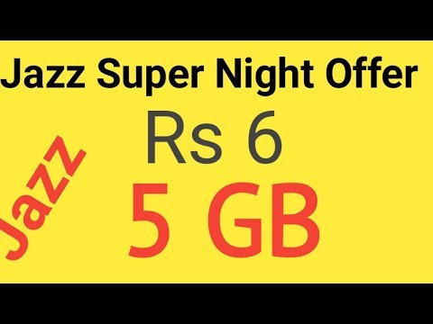Jazz Super Night Offer Jazz One Day 5000 Mb Internet Package 2020 Youtube