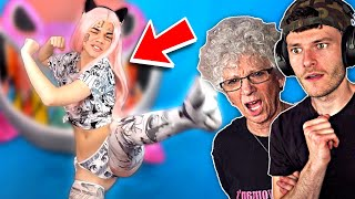 showing my grandmother belle delphine (traumatized lol)