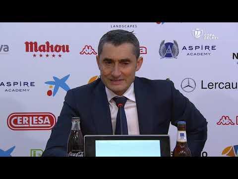 Rueda de prensa de Ernesto Valverde tras el Cultural Leonesa vs FC Barcelona (0-1)