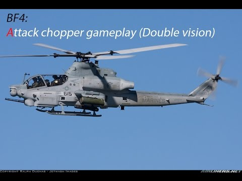 BF4:Attack chopper gameplay on the Wave Breaker(Double vision)