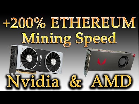 +200% More Speed On Ethereum Mining For Nvidia & AMD Cards