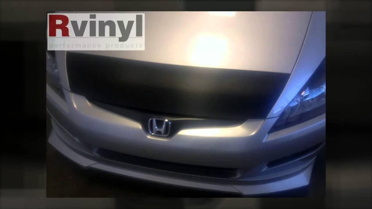 carbon fiber hood bra 2010 honda accord coupe youtube