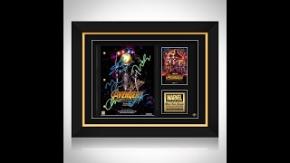 AVENGERS INFINITY WAR- LIMITED EDITION SIGNATURE SERIES STUDIO LICENSED SCRIPT CUSTOM FRAME UNBOXING