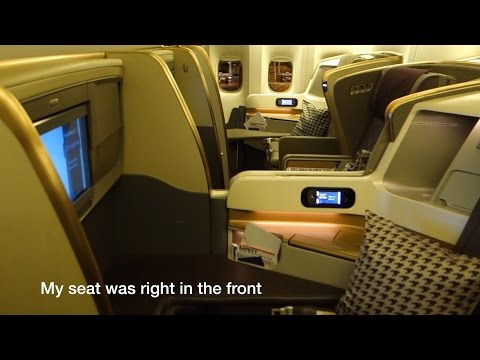 777-300ER 'New' Business Class Singapore Airlines SQ231: Sin