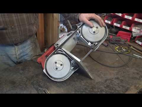 Portable band saw bench mount stand for the blacksmith shop