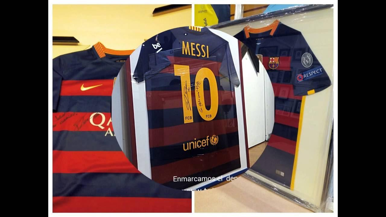 Cómo enmarcar camisetas Barça en Barcelona TOTART Carrer de Sants, 3 ...