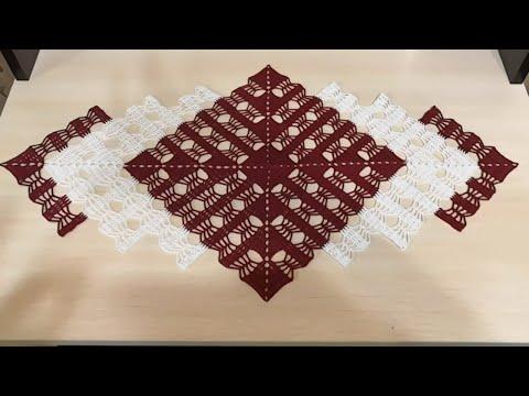 Схемы вязание квадратных салфеток крючком