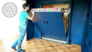 Converting a Closet into a Murphy Bed -- DIY Woodworking