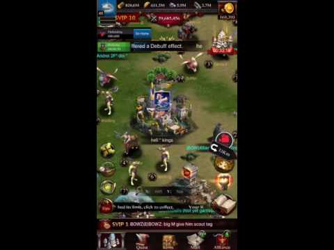 Clash Of Kings - Super Rally And Zeroing 24 Million Castle - BOW Alliance Kingdom #989
