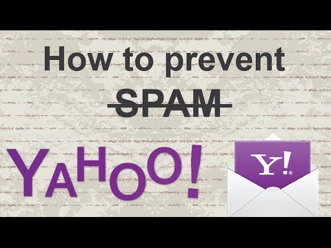 How to block yahoo junk mail (prevent spam)