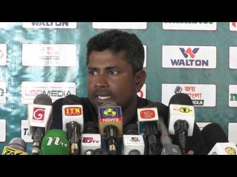 Rangana Herath after wining the 1st Test at galle - Sri Lanka v Bangladesh