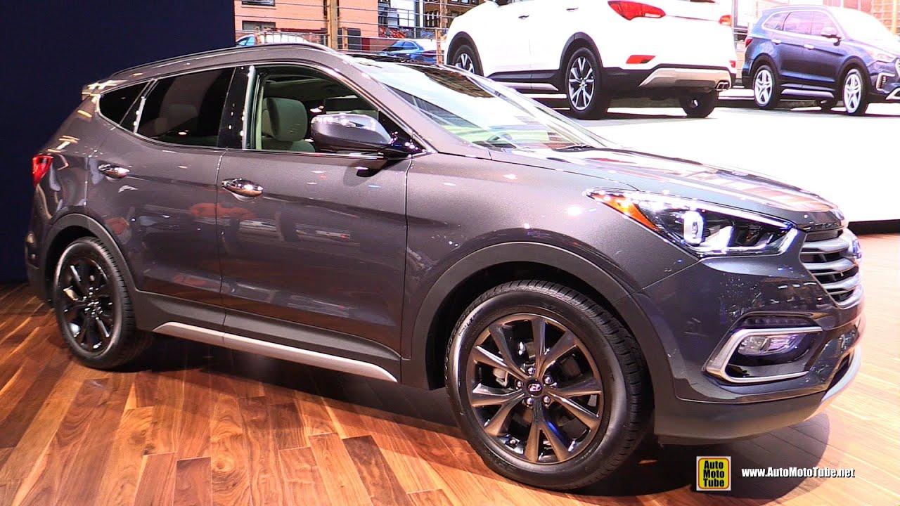2017 Hyundai Santa Fe Sport Interior Options Black 2 0t Exterior And Walkaround