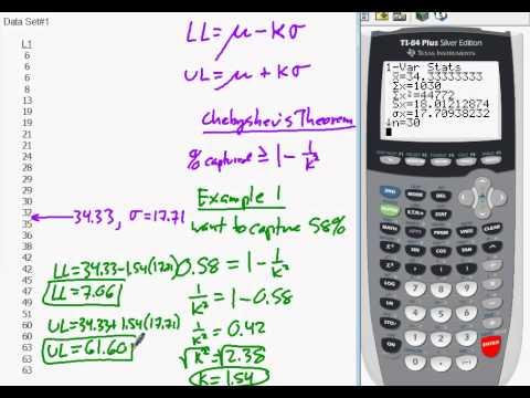 Stats Lesson: Chebyshevs Theorem.avi - YouTube