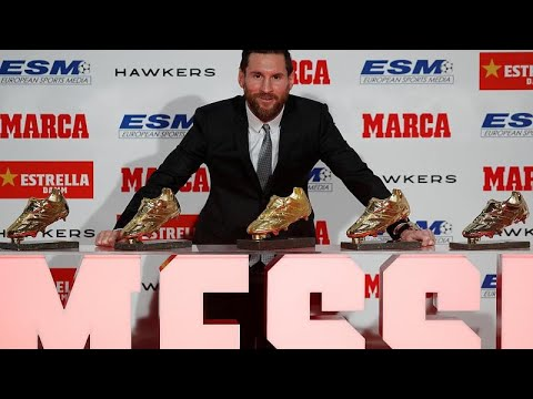 euronews (en español): Leo Messi recibe su quinta Bota de Oro
