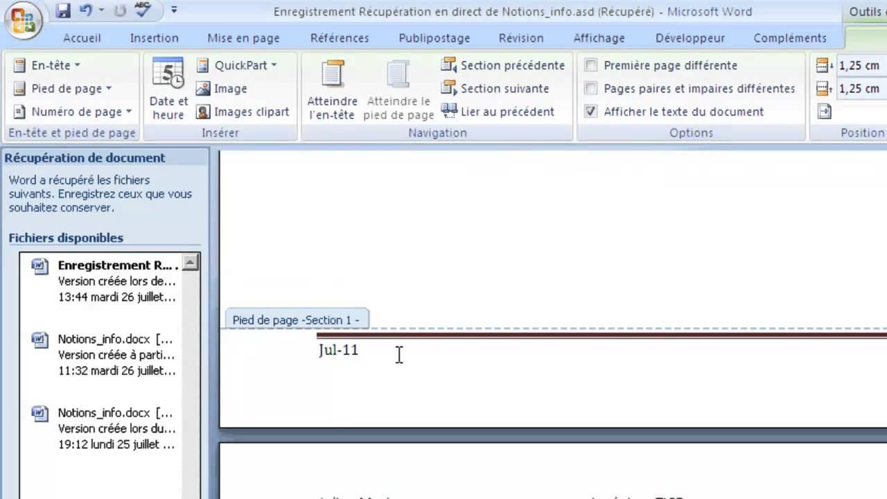 Word 2007 tutoriel 7 cr er une section youtube - Ouvrir document open office avec word ...